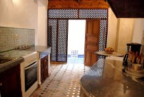 Kitchen of Dar Ben Safi, Fes, Morocco