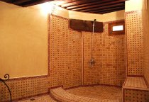 Shower in 2nd Bathroom of Dar Ben Safi, Fes, Morocco