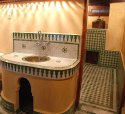 One of the Bathrooms of Dar Ben Safi, Fes, Morocco