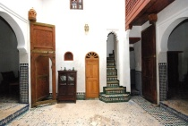 Photo of Dar Jnane, Courtyard Entry to Stairway, Fes, Morocco