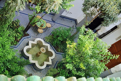 Photo of the Courtyard from Above at Riyad Louna, Fes, Morocco
